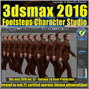 057 3ds max 2016 Footsteps Character Studio vol 57 cd front