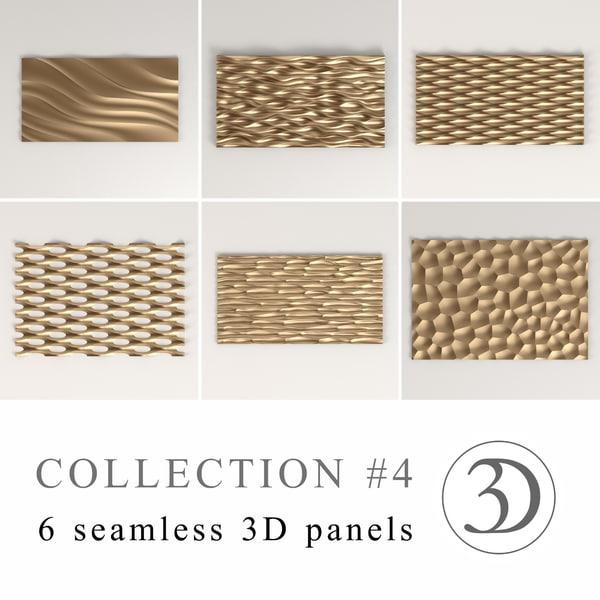 4 6 seamless panels 3d model