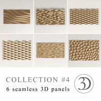 COLLECTION #4 | 6 seamless 3D panels