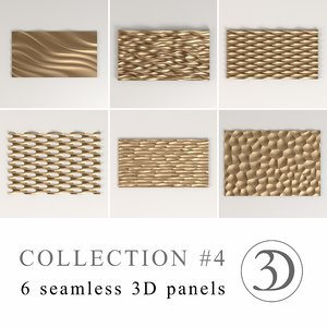 4 6 seamless panels 3d model