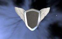 shield and wings