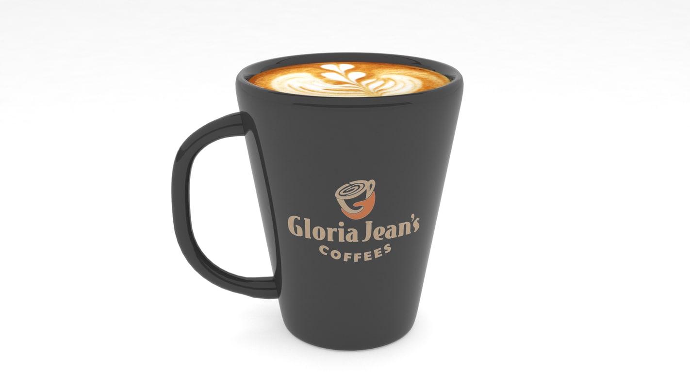 3d model cup coffe