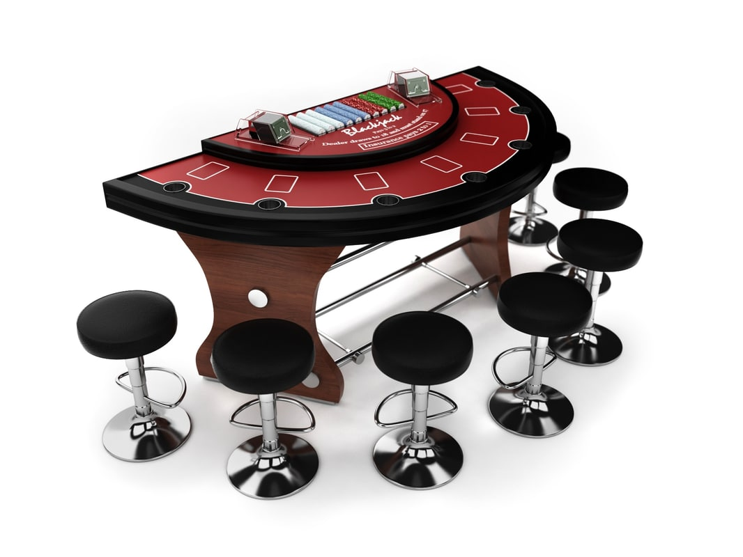 3ds max blackjack table