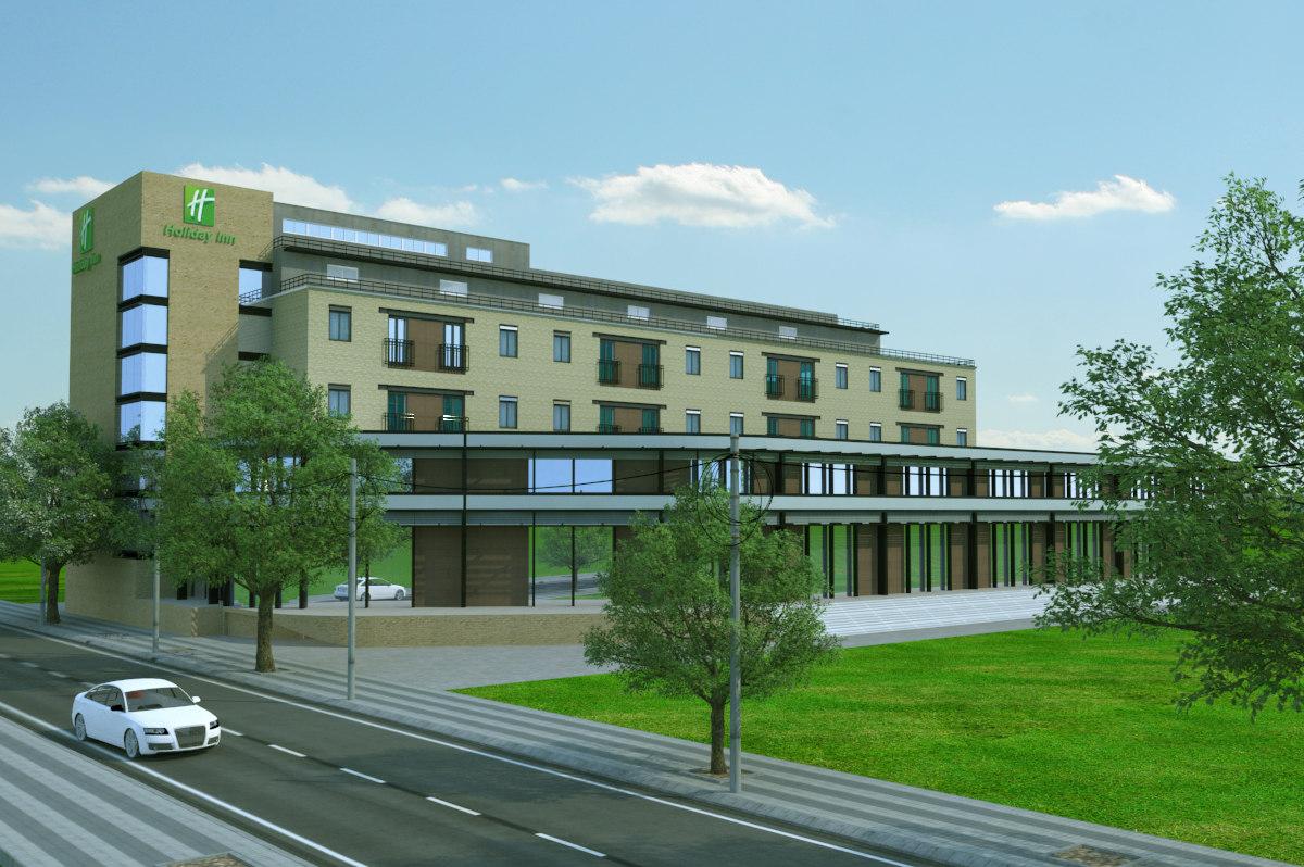 3d hotel building