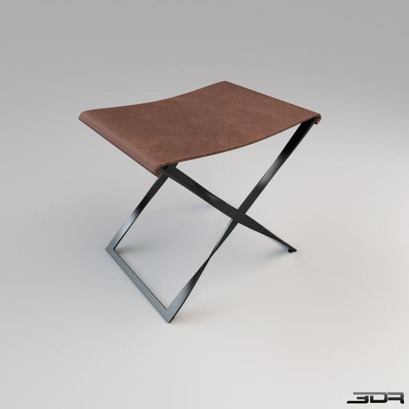 3ds max scissor stool