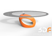 3d pebble coffee table model