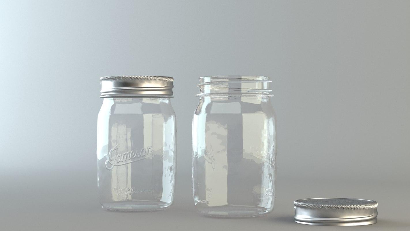 mason jar 3d model