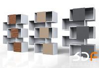 3d model storage shelf