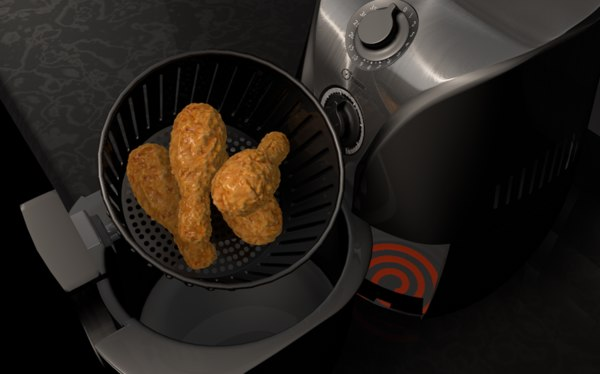 hot air fryer 3d c4d