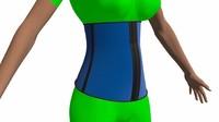 3d model of corset