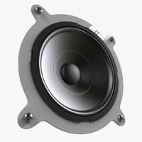 3ds realistic speaker