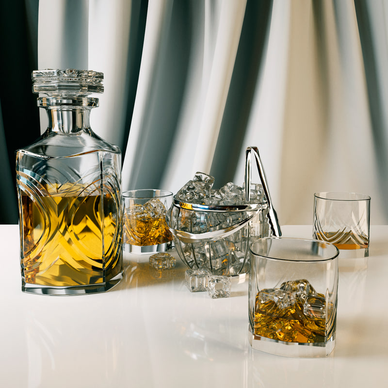 set ice bucket whiskey 3ds