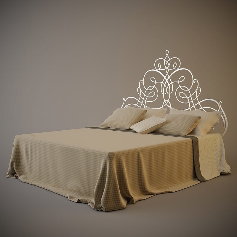 cantori pascia bed 3d model