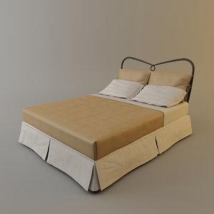 3d model cantori st tropez bed