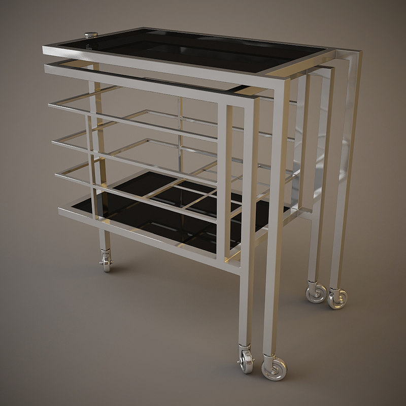 eichholtz trolley collins table 3d model