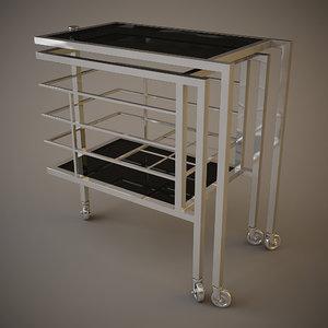 eichholtz trolley collins table 3d model