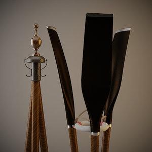 3dsmax eichholtz coatrack oars