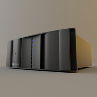 3d model of jbl synthesis power amplifier