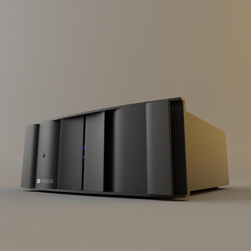 jbl synthesis power amplifier 3d model