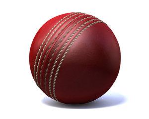 cinema4d red cricket ball