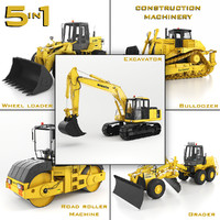 Heavy Construction Machinery Equipment Industrial 5 in 1 vol. 1