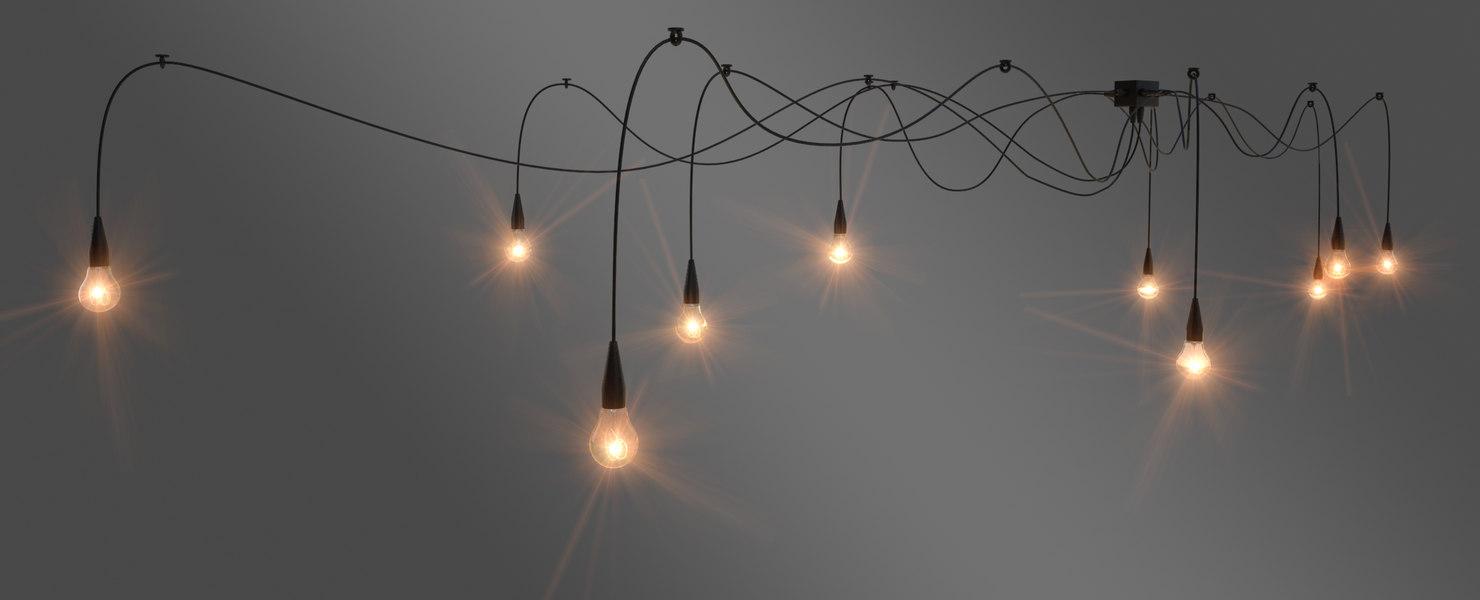 3d spider pendant lamp model