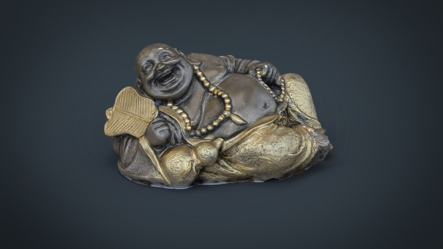 statue smiling buddah 3d max