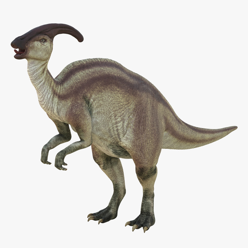 max parasaurolophus rigged