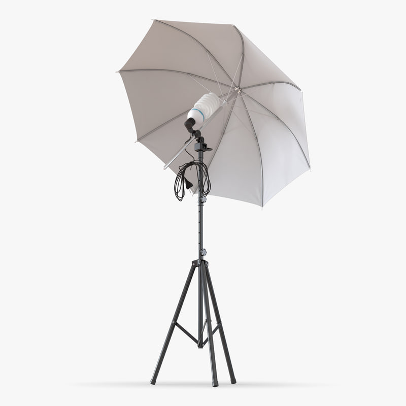 3ds max photo studio lighting umbrella