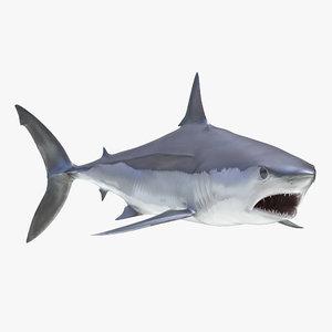 max shortfin mako shark rigged