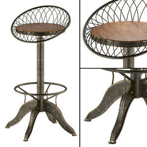 aero industrial design steel 3d model