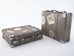 travel suitcase 3d obj
