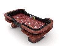 3d craps table set