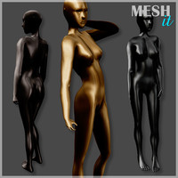 3d model of mannequin rigged