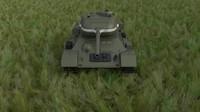 3d model soviet t-34 85 tank