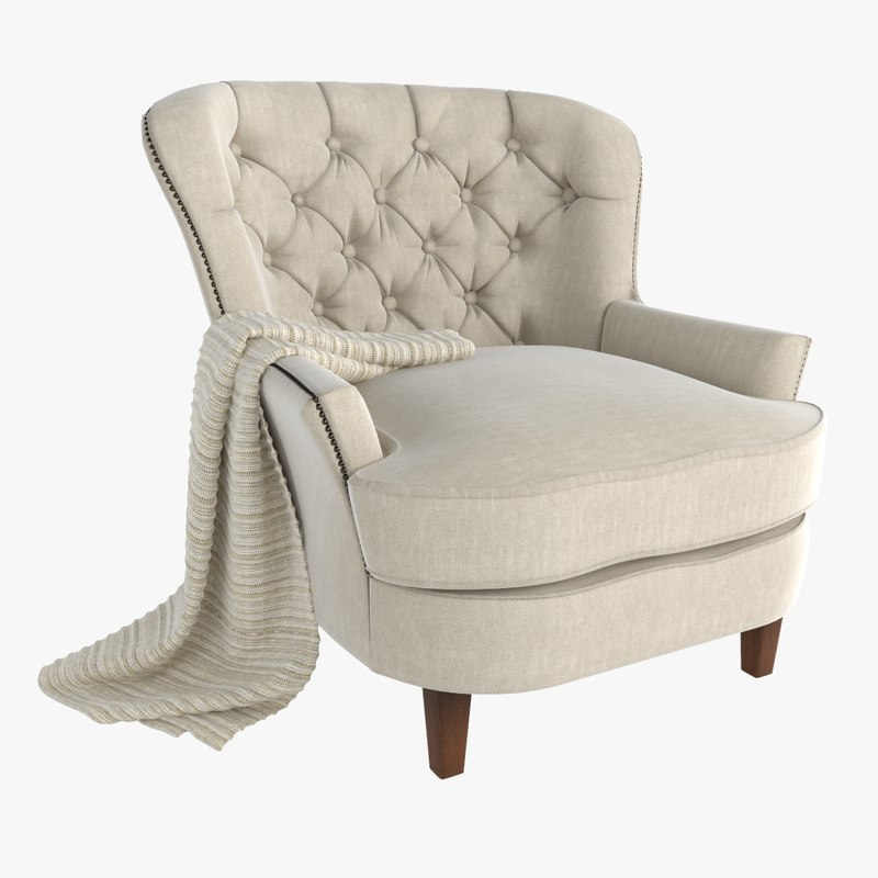 3ds max armchair design