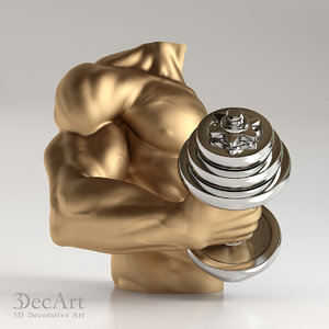 3d max bodybuilder dumbbell