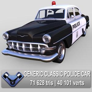 3d generic police sedan model