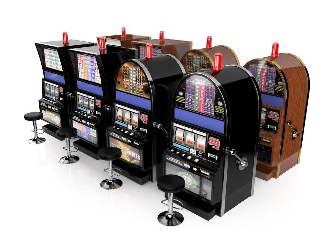 slot machines set 3d max