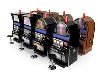 slot machines set 3d max