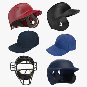 baseball hats 3 3d max