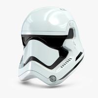 stormtrooper helmet star wars 3d obj
