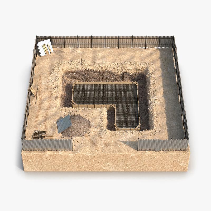 construction pit 3 3d model