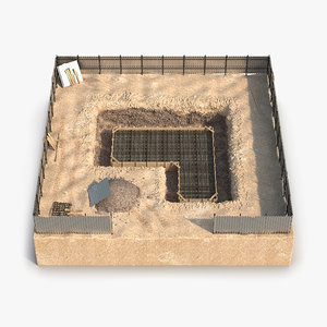 construction pit 3 3d model