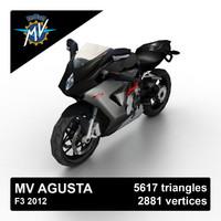 3d model of 2012 mv agusta f3