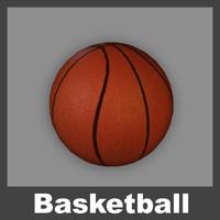 3d model of basketball basket ball
