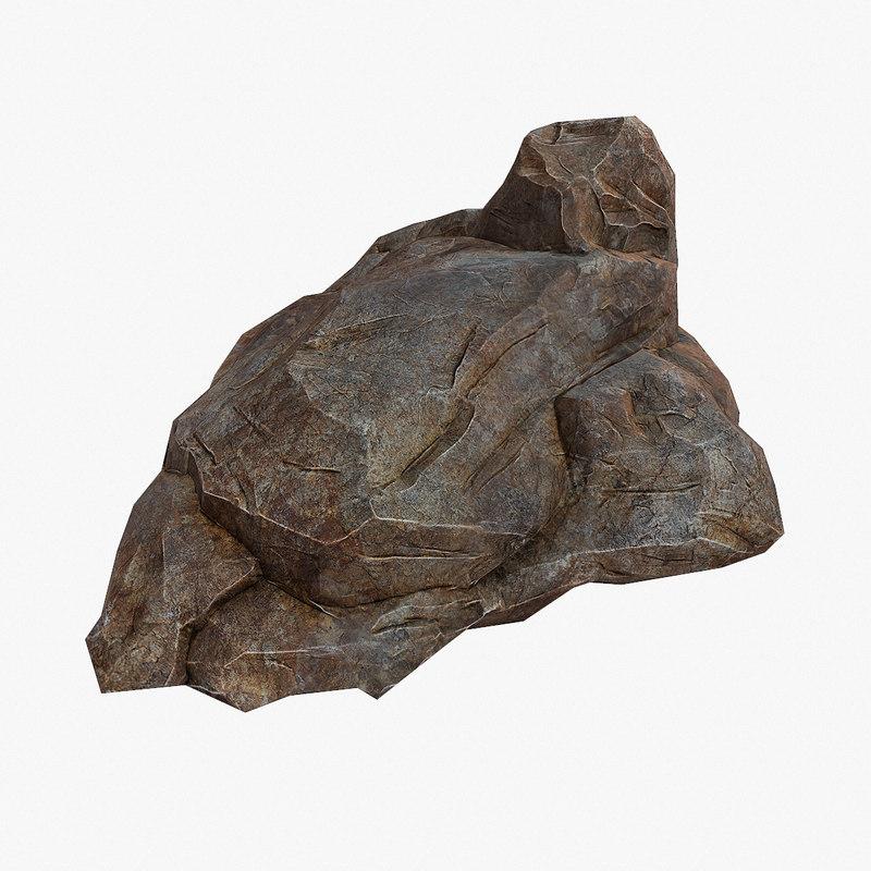 3ds max big stone