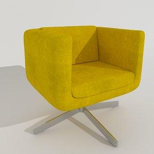oddset armchair chair 3d model