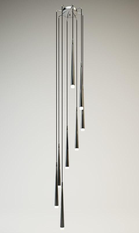 3d hanging lamp azzardo stylo
