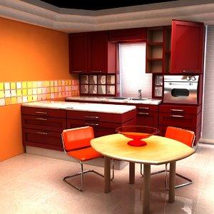 kitchen tv set 3d model